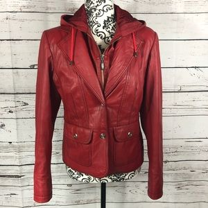 Boutique of Leathers 2-Way Jacket Hoodie Blazer 6